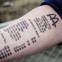 お洒落に見える?腕にタトゥーしたのはなんとマクドナルドのレシート。