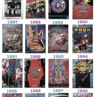 沖縄で1番歴史ある野外ロックフェス 全31枚のポスター公開